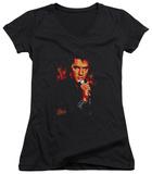 Juniors: Elvis Presley - Trouble V-Neck T-Shirt