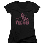 Juniors: Elvis Presley - The King V-Neck T-shirts
