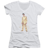 Juniors: Elvis Presley - Gold Lame Suit V-Neck T-shirts