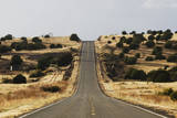 The Famous Road, Route 66, Stretches across the Arizona Desert near Seligman, Nm. Photographic Print by Rachid Dahnoun