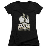 Juniors: Elvis Presley - Golden V-Neck Shirts