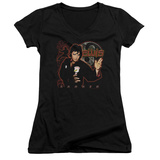 Juniors: Elvis Presley - Karate V-Neck T-shirts