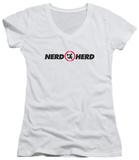 Juniors: Chuck - Nerd Herd V-Neck Shirts