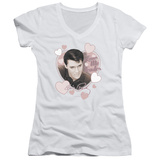 Juniors: Elvis Presley - Love Me Tender V-Neck T-shirts