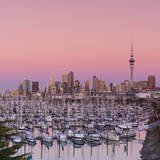 Auckland City Skyline & Westhaven Marina Photographic Print by Doug Pearson