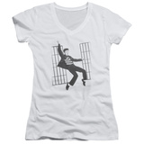 Juniors: Elvis Presley - Jailhouse Rock V-Neck T-shirts