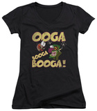 Juniors: Courage The Cowardly Dog - Ooga Booga Booga V-Neck Shirts