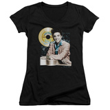 Juniors: Elvis Presley - Gold Record V-Neck Shirts