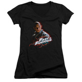 Juniors: Fast & Furious - Toretto V-Neck T-shirts