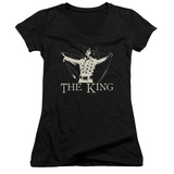 Juniors: Elvis Presley - Ornate King V-Neck T-shirts