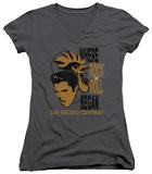 Juniors: Elvis Presley - Elvis And Rooster V-Neck T-Shirt