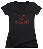 Juniors: The Hobbit: The Desolation of Smaug - Dragon V-Neck T-Shirt