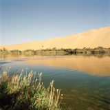 Gebraoun Lake, Part of the Ubari Lakes, Sahara Desert, Libya Fotografisk tryk af Cultura Travel/Philip Lee Harvey