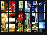Window View - Billboards in Times Square - Manhattan - New York City Photographic Print by Philippe Hugonnard