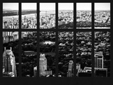 Window View - Central Park - Manhattan - Hudson River - New York City Photographic Print by Philippe Hugonnard