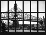 Window View - The Ed Koch Queensboro Bridge and East River - Manhattan - New York City Photographic Print by Philippe Hugonnard