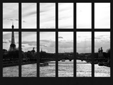 Window View - the River Seine of the Eiffel Tower and Alexandre III Bridge - Paris - France Photographic Print by Philippe Hugonnard