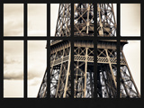 Window View - Close Up of Eiffel Tower - Paris - France - Europe Photographic Print by Philippe Hugonnard