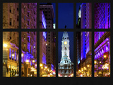 Window View - City Hall and Avenue of the Arts by Night - Philadelphia - Pennsylvania Photographic Print by Philippe Hugonnard
