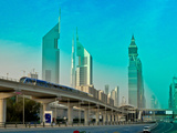 Ecofriendly Transportation in Futuristic Cityscape Photographic Print by Sir Francis Canker Photography