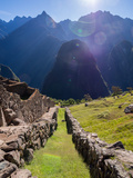 Machu Picchu at Sunrise Photographic Print by Brandon Rosenblum