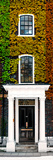 Facade of an English House with Ivy Leaves - Mallinson House in St Albans - UK - Door Poster Photographic Print by Philippe Hugonnard