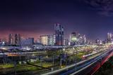 Shinagawa Station Skyline at Night Tokyo Photographic Print by Sandro Bisaro
