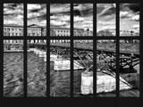 Window View - View of the Pont des Arts - River Seine - Paris - France - Europe Photographic Print by Philippe Hugonnard