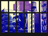 Window View - Urban NY Architecture - Street Art Advertising - Manhattan - New York City Photographic Print by Philippe Hugonnard