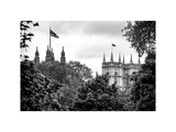 St James's Park with Flags Floating over the Rooftops of the Palace of Westminster - London Photographic Print by Philippe Hugonnard