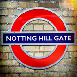 Notting Hill Gate Sign - Subway Station Sign - London - UK - England - United Kingdom - Europe Photographic Print by Philippe Hugonnard
