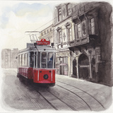 Cityscape of Istanbul, Turkey, Illustration Photographic Print by  Multi-bits
