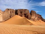 Takharkhouri Pass, Libyan Sahara Fotografisk tryk af Joe & Clair Carnegie / Libyan Soup