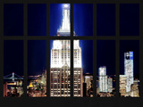 Window View - View of the Empire State Building and 1 WTC by Night - Manhattan - NYC Photographic Print by Philippe Hugonnard