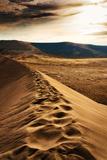 Footprints on Sand Dune at Bruneau Dunes, Idaho Photographic Print by Anna Gorin