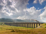 The Viaduct at Ribblehead Fotodruck von D W Horner