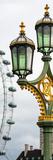 Royal Lamppost UK and London Eye - Millennium Wheel - London - England - Door Poster Photographic Print by Philippe Hugonnard