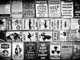 Antique Enamelled Signs - Wall Signs - Notting Hill - London - UK - England - United Kingdom Photographic Print by Philippe Hugonnard