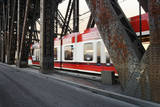 Light Rail Transit in Portland Oregon Photographic Print by David Papazian
