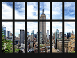 Window View - Cityscape with the Empire State Building - Manhattan - New York City Photographic Print by Philippe Hugonnard