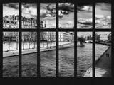 Window View - the River Seine Landscape - Paris - France - Europe Photographic Print by Philippe Hugonnard