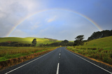 Road with Rainbow Photographic Print by Raimund Linke
