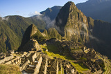 Machu Picchu and Fog in Morning Photographic Print by Matt Champlin