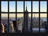 Window View - Empire State Building and the One World Trade Center - Manhattan - New York City Photographic Print by Philippe Hugonnard