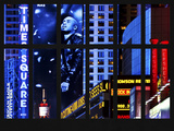 Window View - View of Times Square by Night - Manhattan - New York City Photographic Print by Philippe Hugonnard