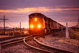 Freight Train at the Salton Sea Photographic Print by Hal Bergman Photography