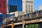 Passing CTA Trains Photographic Print by Bruce Leighty