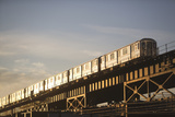 Usa, New York State, New York City, Low Angle View of Train Photographic Print by  Fotog