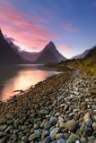 Twilight @ Mitre Peak, Milford Sound Photographic Print by  AtomicZen