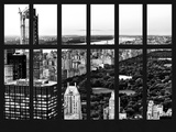 Window View - Central Park at Sunset - Manhattan - New York City Photographic Print by Philippe Hugonnard